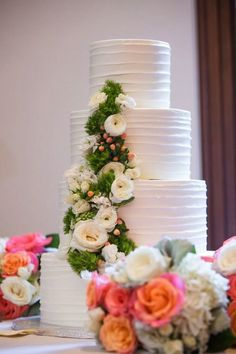 Sweet summer wedding at the beautiful Westin Hotel Georgetown, Washington DC. - wedding cake idea