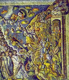 Sta Maria Maggiore, Rome, and later. The Crossing of the Red Sea, Mosaic. Early Christian, Christian Art, Israel History, Art Through The Ages, Byzantine Art, Red Sea, Archaeology, Christianity, Rome