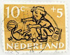 10c Nederland stamp