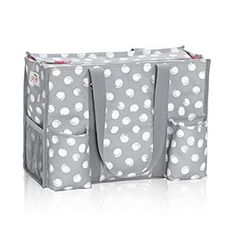 Zip-Top Organizing Utility Tote (U R U) in U R U Swirl Dot - 4451