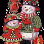 navidad/postales/muñeco-de-nieve/