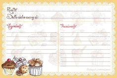 recipe card stampabili Scrapbook Albums, Scrapbook Paper, Scrapbooking, Homemade Recipe Books, Printable Lined Paper, Recipe Paper, Digital Paper Free, Printable Recipe Cards, Recipe Binders