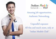 Indian model Job opportunity in corporate sector, Products advertising area, fashion show or promo event, TV advertising  and Ramp modelling in all India. Register your profile for Model Job opportunity job on Indian model club in Delhi, Mumbai, Goa, Bangalore, Jaipur. Visit official website Indian model Club.