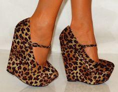gorgeous leopard print wedges