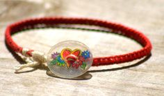 Red Heart Shrinky Dink Button Friendship by theotherstacey on Etsy, $5.00