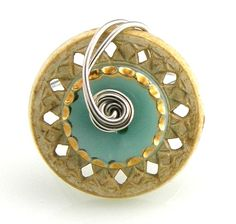 Vintage Button Ring Wire Wrap by TrinketsNWhatnots on Etsy, $25.00 #jewelry #ring #vintage