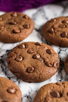 Double Chocolate Cream Cheese Cookies | marshasbakingaddiction.com @marshasbakeblog