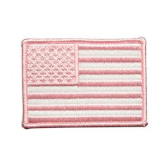 This pink and white American flag patch backed with velcro. This is a high quality patch with bright colors that pop. Pink US Flag Patch Flag Patches, Pin And Patches, American Flag Patch, Morale Patch, Little Girls, Card Holder, Delicate, Pink, Color