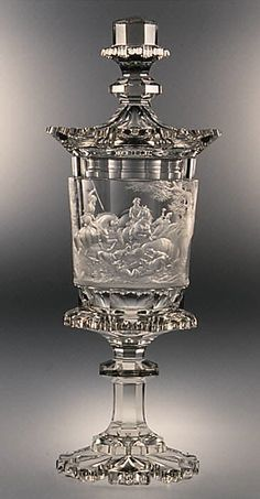 Goblet with cover | Style of August Böhm (1812–1890) |  Date: ca. 1830–50…