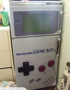 Games Room Fridge! This is the single most amazing thing I have ever seen -Falls onto knees crying-