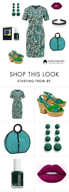 """""""Chic Lady"""" by annaturcato ❤ liked on Polyvore featuring King Louie, Kate Spade, Magid, Kenneth Jay Lane, Essie and WithChic"""