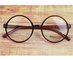 Vintage Cute Round oliver retro classic eyeglasses e3057 black frames rubyruby