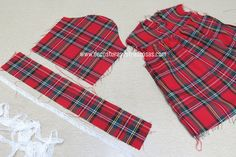 como-hacer-manga-con-volante-y-puntilla Diy Dress, Sewing Hacks, Nice Tops, Plaid Scarf, American Girl, Kids Outfits, Girls Dresses, Pattern Drafting, Capes