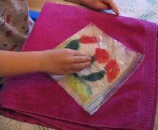 Tutorial for ziplock felting for children