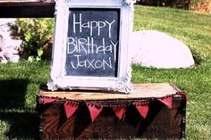 upcycled chalkboard frame and burlap banner 1st Birthday Parties, 2nd Birthday, Happy Birthday, Sock Monkey Birthday, Milk Cookies, Framed Chalkboard, Birthday Chalkboard, Party Planning, Party Time