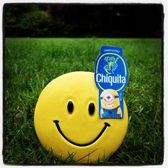 All smiles here with @Chiquita Brands bananas and minions! #stickaminiononit #week3 (Photo by @Shannon Bellanca)