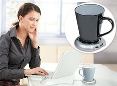 usb mug warmer. {this is totally ridiculous, but i would love it}