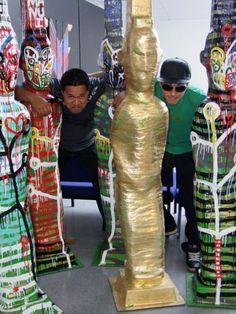 Tawera Tahuri Enamel on Fiberglass Maori Art, Enamel, Artists, Vitreous Enamel, Enamels, Tooth Enamel, Artist, Glaze