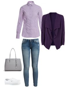"""Outfit, byMi Blouse """"Flims lila"""""""