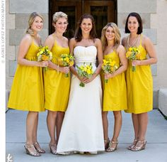 yellow on yellow bridesmaids dresses