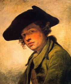 Jean Baptiste Grueze - A Young Man in a Hat