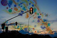 Vitor Schietti - Formas Pensamento. Surrealismo fotografico, auroras boreales. #arte #fotografia #iconocero #fantasia #atardecer