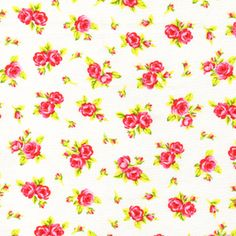 Timeless Treasures House Designer - Tweet - Spaced Roses in White  this would be cute for little dresses or pillows for Molly's bed.