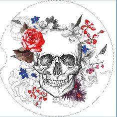 Tattoo Foto, Skeleton Face, Totenkopf Tattoos, Skull Pictures, Day Of The Dead Skull, Skull Art, Skull Head, Flower Tattoos, Floral Skull Tattoos
