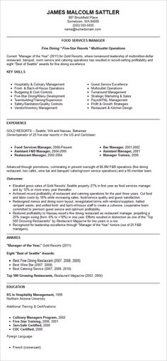 11 Sample Resume For Restaurant Manager Riez Sample Resumes - restaurant manager resume