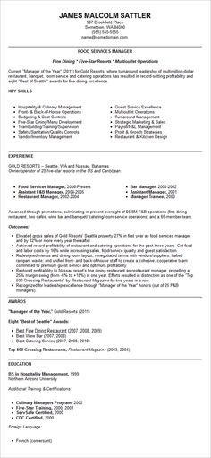 Restaurant Manager Resume Example Resume examples, Resume - restaurant resume template