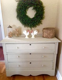 Vintage Rustic Farmhouse Dresser Hand by ColorfulHomeDesigns