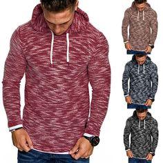 73c88f1f414 Men Autumn Long Sleeve Hoodie Hooded Sweatshirt Top Tee Outwear Blouse