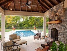 Tuscan style – Mediterranean Home Decor Outdoor Rooms, Outdoor Living, Outdoor Decor, Outdoor Patios, Outdoor Kitchens, Backyard Patio, Outdoor Ideas, Porch Kits, Porch Ideas