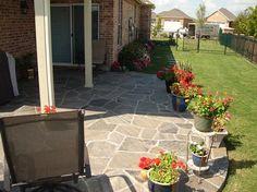 Flag stone patio