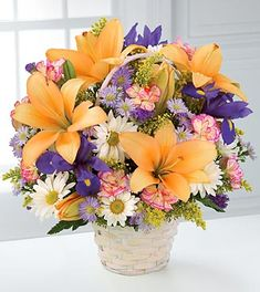 The Natural Wonders™ Bouquet by FTD® - BASKET INCLUDED- Deluxe