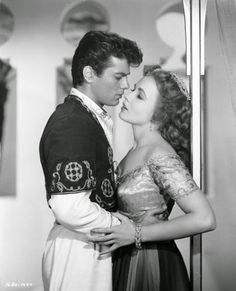 """Piper Laurie & Tony Curtis in """" Son Of Ali Baba """""""