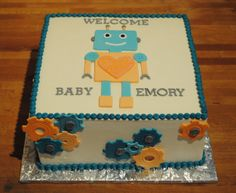 Robot baby shower.