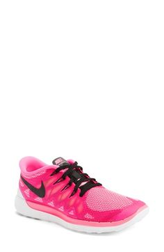Nike 'Free 5.0 14' Running Shoe (Women) available at #Nordstrom dark grey and magenta though
