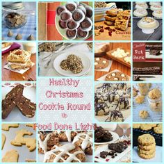 Yum & healthy Christmas Cookies!  Healthy Christmas Cookie Round Up www.fooddonelight.com