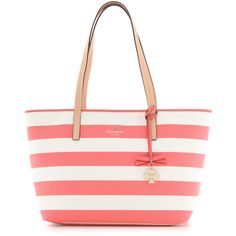 Kate Spade New York Hawthorne Lane Ryan Tote - Surprise Coral/Cream found on Polyvore