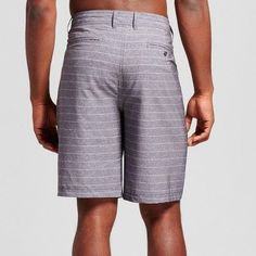 Men's Big & Tall Stripe Hybrid Swim Shorts 10.5 - Mossimo Supply Co. Black 56