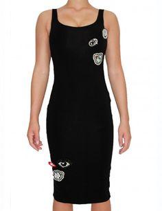 My Brand - Badges Dress Zwart - Jurken - Dameskleding