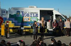 Maha addresses the students and Azusa City Library staff to welcome everyone and stress the importance of reading.