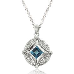 Effy DiVersa® Sterling Silver Diamond & Blue Topaz Changeable Pendant
