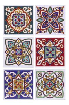 Mandala Drawing, Mandala Art, Tile Patterns, Pattern Art, Mundo Hippie, Motif Arabesque, Ceramic Tile Art, Paisley Art, Islamic Art Pattern