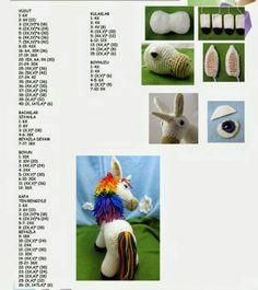 Amigurumi örgü unicorn yapılışı ayrıntılı ve resimli anlatımlı