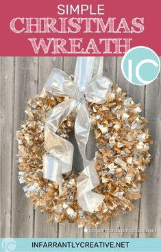 This wreath will literally take you 5 minutes. You really don't even need a tutorial. This is the most simple Christmas wreath you will ever make.  It is the same method I used for theCreepy Spider Infested Wreathfrom Halloween.
