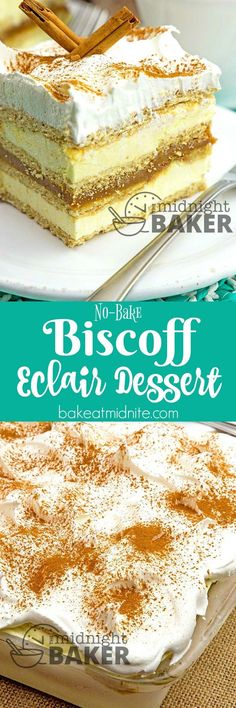 Get the flavor of delicious Biscoff in this easy no-bake dessert. Peanut butter or Nutella may be substituted. (Nutella No Baking Cookies) Biscoff Recipes, Chocolate Recipes, Baking Recipes, Cake Recipes, Dessert Recipes, Jello Recipes, Baking Ideas, Biscoff Cookie Butter, Peanut Butter