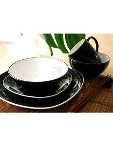 Duq Quadro Black Dinnerware Set   170076
