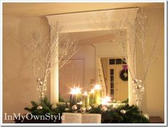 Christmas / winter - love the sprayed branches